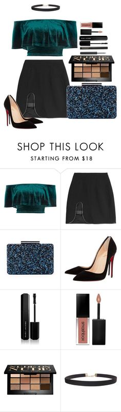"""""""Untitled #1699"""" by fabianarveloc on Polyvore featuring River Island, David Koma, Sole Society, Christian Louboutin, Marc Jacobs, Smashbox, Bobbi Brown Cosmetics, Humble Chic and Lancôme"""