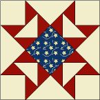 Sew Block Quilt FREE Library of Quilt Block Patterns from McCall's Quilting Flag Quilt, Patriotic Quilts, Star Quilt Blocks, Star Quilts, Quilt Block Patterns, Pattern Blocks, Blue Quilts, Block Quilt, Sewing Patterns