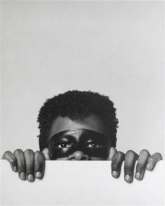 """Robert MAPPLETHORPE, """"Sans titre"""", 1980 - Epreuve aux sels d'argent montée avec cartons gris, 45,8 x 52,9 cm, Paris, Centre Pompidou, musée National d'Art moderne / Centre de création industrielle. En dépôt aux Abattoirs de Toulouse, depuis 1999"""