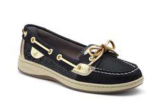 Gave Sperry Angelfish Slip-On Boat (Zwart) Sneakers van het merk Sperry Top-Sider voor Dames. Uitgevoerd in Zwart gemaakt van Leer. Nu verkrijgbaar voor 0.00 bij Sneakershop.