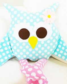 Items similar to Owl Sewing Pattern - Owl Pillow Toy PDF on Etsy Sewing Toys, Sewing Crafts, Sewing Projects, Owl Crafts, Cute Crafts, Owl Pillow Pattern, Owl Sewing Patterns, Owl Cushion, Shower Bebe