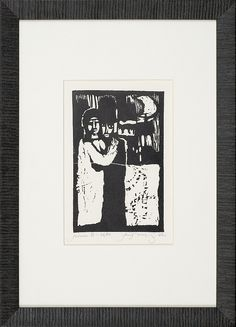 Jerzy Duda Gracz   JUDAICA III, 1964   drzeworyt, papier   14.8 x 9.5 cm