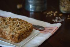 gluten free dairy free banana nut bread food photography via allison jacobs