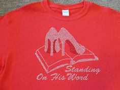 Standing On His Word 9.25x10 Faith Rhinestone by BlingByBates