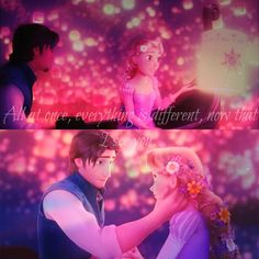 All at once, everything is different, now that I see you ~ Tangled