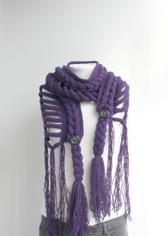 I love scarves. I knit them all the time. Never one quite this interesting though.