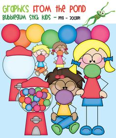 Bubblegum kids clip art