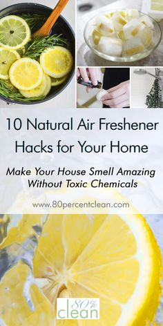 Hate the way your house smells, but don't want to spray toxic chemical air freshener? Try out one of these easy, cheap and natural air freshener hacks.