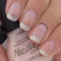 A girly French manicure