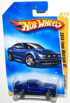 2009 Hot Wheels New Models, 2010 Ford Mustang GT, 41 of 42, 041/190 (1 Each) by Mattel. $5.99. '10 Ford Mustang hardtop. Ages 3 to adult. highly detailed model. 1/64 scale. die-cast metal. This is another Hot Wheels cool looking car.  With grille mounted driving lights, rear spoiler, power dome hood, and a 4.6L V8 engine, this fastback coupe was made to bring muscle back to the streets.