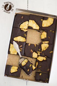 chocOlate pineapple brownie