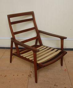 1960s Original Vintage Mid Century Modern Retro Guy Rogers Lounge Chair Danish