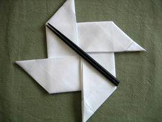 Folding a Napkin Into a Pinwheel - Napkin Fold Tutorial