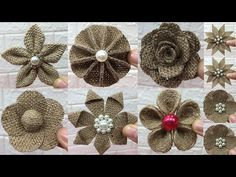 How to make burlap flowersHandmade burlap flowers that are simple and affordableNo-Sew DIY Burlap Roses - Six Wise SistersNO-SEW DIY burlap roses - step-by-step guide for photos and video tutorial! Make these rustic DIY burlap Twine Flowers, Burlap Flower Wreaths, Cloth Flowers, Burlap Flowers, Fabric Flowers, Burlap Crafts, Fabric Crafts, Burlap Flower Tutorial, Burlap Projects