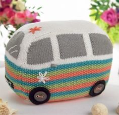 C&ervan Doorstop - free knitting pattern download from Let\u0027s Knit! & Pattern Knit a Splitty Campervan Kombi Cushion by SnuginaDub ... pillowsntoast.com