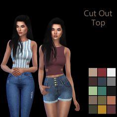 Cut Out Top – Leosims.com