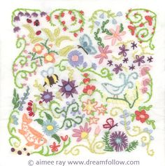 Wonder if I remember all my embroidery stitches?