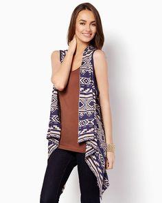 Aida Waterfall Vest | Fashion Apparel - Cardigans & Kimonos | charming charlie