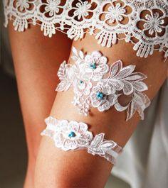 Bridal Garter Wedding Garter Lace Garter  Something by NAFEstudio