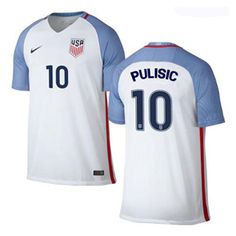 6d132360b Nike USA Christian Pulisic  10 Soccer Jersey (Home 16 17)   SoccerEvolution