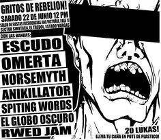 Concierto Gritos de Rebelión Omerta, Norsemyth, Anikillator, Escudo, RWED JAM, Spitting Words y El Globo Oscuro