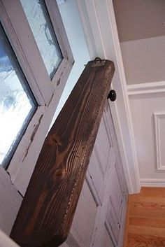 How to turn a normal door into a dutch door. So we can ditch the baby gate for the dog.