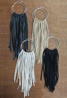 Handmade hoop earrings | fringe hoop earrings 48 00 these sterling silver hoop earrings feature | DIY Jewelry