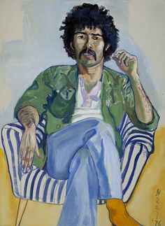 The Arab, oil on canvas, 43-7/8 x 32-1/8 in., 1976, by Alice Neel