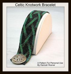 Bead Pattern Celtic Knotwork Beaded Bracelet tutorial instructions