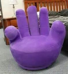 I want ah hand chair! Purple Furniture, Funky Furniture, Unique Furniture, Purple Home, Pink Purple, Purple Chair, All Things Purple, Purple Stuff, Hand Chair
