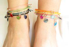 Friendship Bracelet Set of 3 Choose Your Color Neon by petiteutile