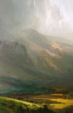 James Naughton received a BFA from Metropolitan University in Leeds. In university his speciality had been printmaking, but lacking the facilities to continue after graduation, he turned to painting. Artist Painting, Oil Painting On Canvas, Painting Frames, Abstract Watercolor, Abstract Landscape, Landscape Paintings, Your Paintings, Painting Inspiration, Disability Art