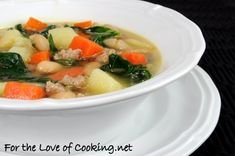 For the Love of Cooking » Sausage, Potato, Veggie, and White Bean Soup