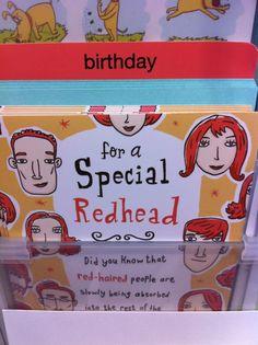 EVERYTHING GINGER AphroditeRed HairRedheadsZenPrideGreeting CardsRed