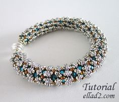 Tutorial O-Bracelet - Beading Pattern with O-beads by Ellad2