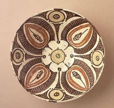 Bowl Iran, Nishapur or Turkestan, Afrasiyab Bowl, 10th century Ceramic; Vessel, Earthenware, underglaze slip-painted, 2 3/4 x 7 3/4 in. (6.99 x 19.69 cm) The Nasli M. Heeramaneck Collection, gift of Joan Palevsky (M.73.5.186) Art of the Middle East: Islamic Department.