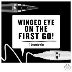 And we couldn't have done it without this: The Body Shop Matte Kajal. #beautywin #makeup #eyeliner #wingedeyeliner http://www.thebodyshop.co.za/store/list/category/make-up-core
