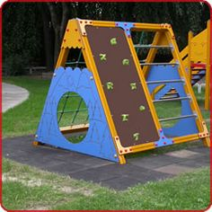 climbing frame - doubles as a tent. I can so see this as a viking wedge!