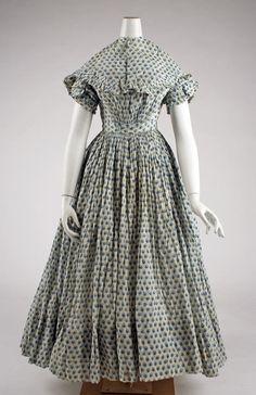 Dress American ca. 1840 cotton