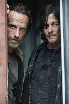 Andrew Lincoln as Rick Grimes and Norman Reedus as Daryl Dixon - The Walking Dead _ Season Episode 1 - Photo Credit: Gene Page/AMC. my name is daryl ive been living a lie my whole life :( Walking Dead Zombies, Glenn The Walking Dead, The Walking Dead Saison, The Walk Dead, Walking Dead Tv Show, The Walking Dead 3, Andrew Lincoln Walking Dead, Walking Dead Season 9, Rick Grimes