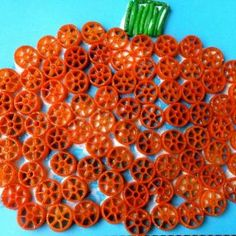 Pasta Pumpkin Craft from Mom to 2 Posh Li'l Divas