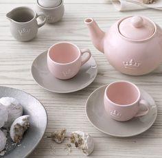 a classic porcelain tea set.