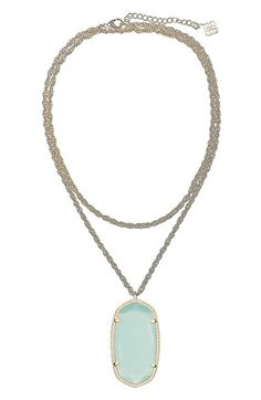 Phipps-Chalcedony-Kendra Scott 'Rae' Long Pendant Necklace | Nordstrom