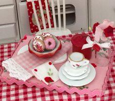 Donut Delight Dessert Board-dollhouse by RibbonwoodCottage on Etsy