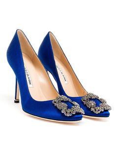 Manolo electric blue suede shoe #manoloblahnikheelsproducts