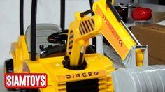 SIAMTOYS - รถเด็ก รุ่น 3708 ทรง รถแม็คโคร (สีเหลือง) - Line id : @siamto...