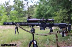 Modified Ruger precision rifle
