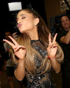 Ariana Grande - 2014 iHeartRadio Music Festival - Night 1 - Backstage