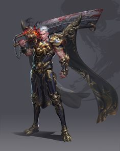 ArtStation - Work charts two years ago, Yang chen Fantasy Character Design, Character Concept, Character Art, Fantasy Armor, Fantasy Weapons, Armor Concept, Concept Art, Armadura Medieval, Fantasy Paintings