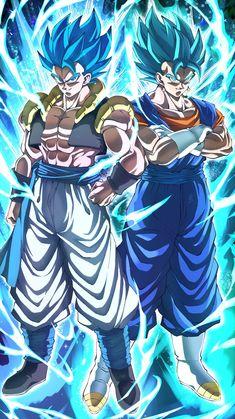 Gogeta & Vegito Blue By: Migimimi Anime Dragon, Dragon Ball Z Iphone Wallpaper, Foto Do Goku, Gogeta And Vegito, Dragon Ball Image, Animes Wallpapers, Manga Girl, Anime Girls, Dragonball Wallpaper